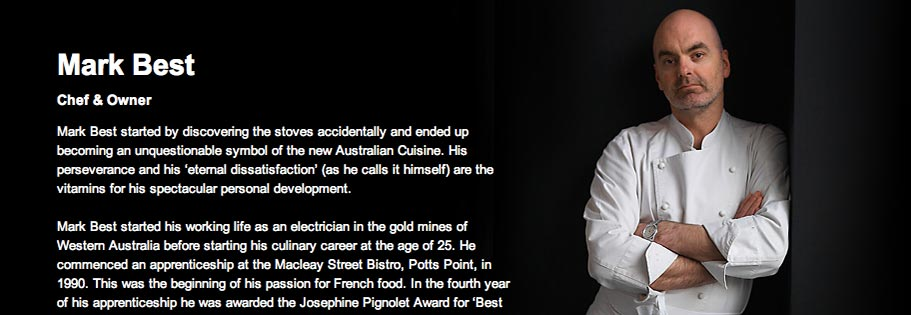 Image of the Chef profile with custom background image